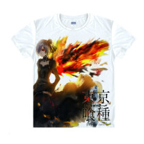 Tokyo Ghoul Fashion Animation White Smooth Decron T-shirt 045 More Patterns