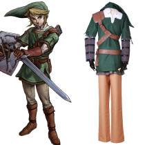 Rulercosplay The Legend Of Zelda Link Green Unifrom Cloth PU Leather Cosplay Costume Wholesaler Resa