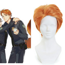 Rulercosplay Zootopia Nick Orange Short Heat Resistant Fiber Cosplay Wigs Wholsesaler Resaler