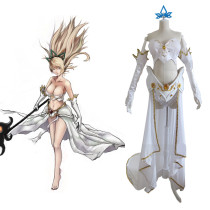 Rulercosplay League Of Legends Janna White Chiffon Cloth Custom-made Cosplay Costume Wholesaler Resa