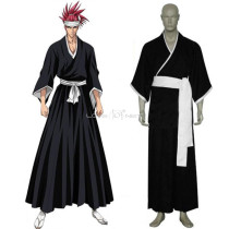 Rulercosplay Bleach 6th Division Lieutenant Abarai Renji Black Uniform Cosplay Costume Wholesaler Re