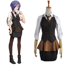 Rulercosplay Tokyo Ghoul Touka Kirishima Brown Working Uniform Cosplay Costume Wholesaler Resaler