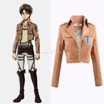 Rulercosplay Attack On Titan Fashion Brown Cotton Allen Uniform Cosplay Costume Wholesaler Resaler