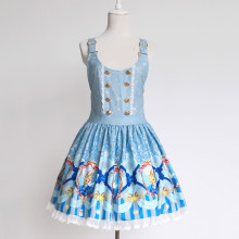 Rulercosplay Customized Christmas Deer Pattern Bowknot Polyester Lolita Vest Dress 2 Colors Anime Co