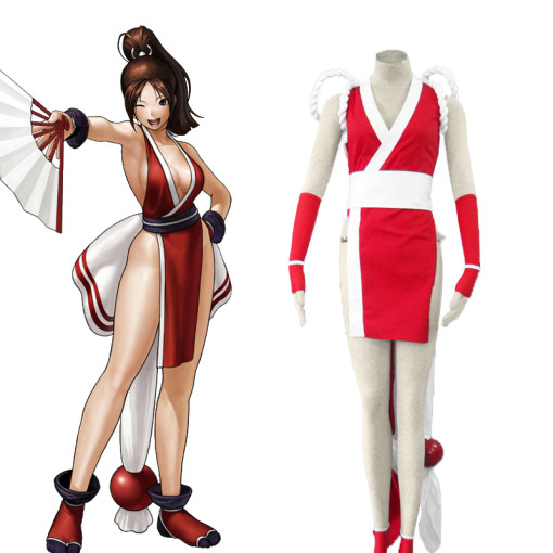 Rulercosplay The King Of Fighters' Mai Shiranui Red Cosplay Costume Wholesaler Resaler