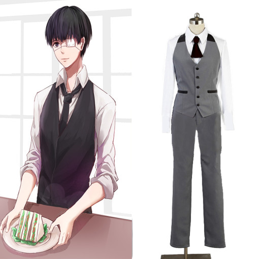 Rulercosplay Tokyo Ghoul Kaneki Ken Gray Working Uniform Cosplay Costume Wholesaler Resaler