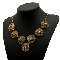 Fashion Leopard Head Shap Exaggerated Necklace