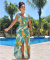 Pineapple Print High Side Split Maxi Dress PN-6047