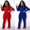 Sexy Lace Spliced Long Sleeve Bodycon Jumpsuit ORY-5082