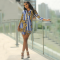 Retro Striped Printed Shirt Dresses YIS-610