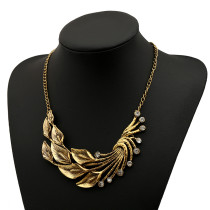 Flowers&Leaves Drill High Quality Metal Necklace Supplier