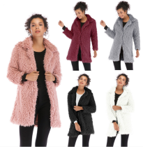 Full Sleeves Turndown Collar Winter Wram Long Coat BF-5912