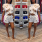 White Two pieces Shorts Set OMR-9250