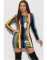 Fashionable Colorful Sequin Round Collar Package Hip Mini Dress OSM-6065