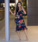 Off Shoulder Floral Print Midi Dress LA-3029