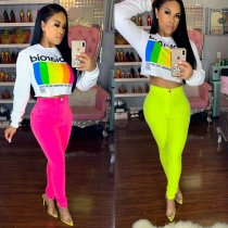 Solid Color Tight Long Pencil Pants LSD-8280