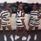 Black White Striped 2 Piece Shorts Set TEN3264