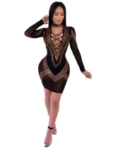 Sexy Sequin Hollow Out Nightclub Dress MUE2592
