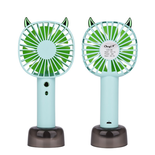 CkeyiN Mini Handheld Fan Personal Portable Desk Table Fan with USB Rechargeable Battery Cute Design Powerful Energy Electric Fan for Office Room Outdoor Household Traveling