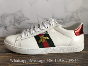 Gucci Ace Embroidered Low Top White Bee