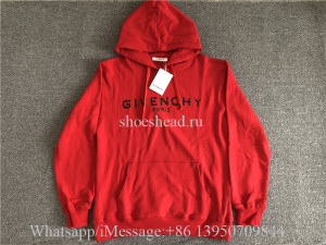 Givenchy Red Hoodie