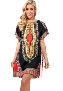 As Show Short Sleeve round neck healthy cloth Tribal Printed African Clothing