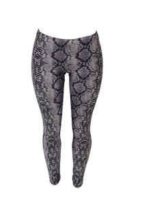 Grey Polyester Elastic Fly Print Skinny Pants  Leggings ME5655