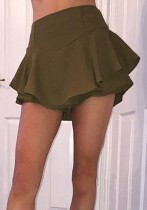 ARMYGREEN Casual Sexy & Club Pleated skirt Club Dresses