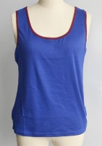 Royal blue Fashion Casual Patchwork Tank Tops Short Tank Tops & Camis
