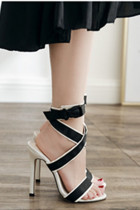 Black Stitching Opend  Pumps & Heels LR15596