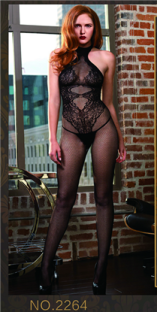 Ultra Sexy Black Black Polyester Polyester Halter Slinky Fishnet See Thought Nightwear With G-sting Valentine Lingerie
