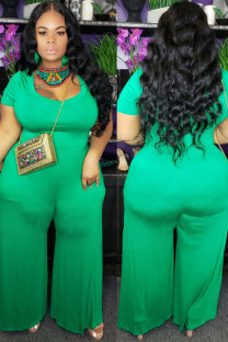 Green Spandex adult Fashion Sexy O Neck Solid IF65014