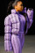 purple Mandarin Collar Print Solid Spandex Others Long Sleeve Coats & Cardigan OS411285