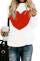 White O Neck Peach Heart knit Others Long Sleeve  Sweaters & Cardigans MMY01036