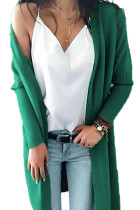 Fruit green V Neck Solid Acrylic Pure Long Sleeve  Sweaters & Cardigans MMY01023