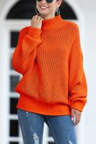 tangerine Turtleneck Solid Acrylic Pure Long Sleeve  Sweaters & Cardigans MMY01035