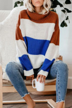 As Show Turtleneck Striped knit Striped Long Sleeve  Sweaters & Cardigans SF16014