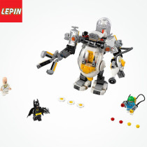 Magic 07096 Legoing DC Super Heroes Batman Movie Egghead Mech Food Fight Figures Building Block Toys For Children