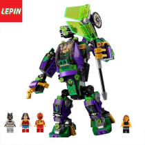 Lepin 07092  Super Heroes Batman The Lex Luthor Mech Takedown Building Blocks Brick Toys For Children