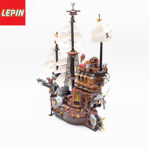 Lepin 16002 Movie Series 2791Pcs Pirate Ship MetalBeard's Sea Cow Model Building Blocks Bricks Children Toys