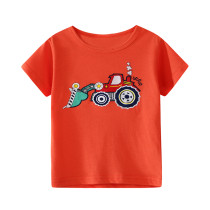 Printing design red baby cotton short sleeve t-shirt