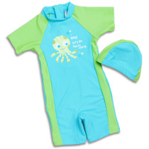New style 1-12 year old boys / girls one-piece swimsuit children kids beachwear swimwear with swim cap