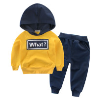 Fashion winter kids sports wear children's suit boys clothing sets