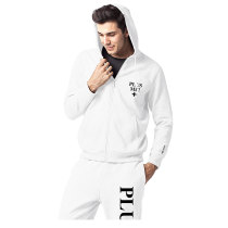 Customized logo printed embroidery men sport zipper hoodies