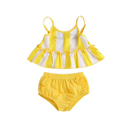 Hot sell girls swimsuit summer kids bikini swimwear