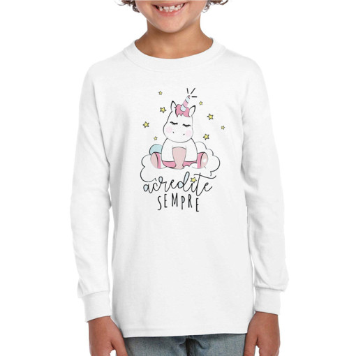 Stylish Printed Custom Blank Long Sleeve Kids  Crewneck Sweatshirt