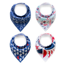 Baby Product 4 Pieces Cotton Baby Bibs Bandana