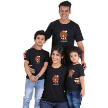 Parent-child wear cartoon bear short sleeve t-shirt family wear