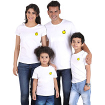Summer Parent-Child Wear Smiley Printed Short Sleeve T-Shirt