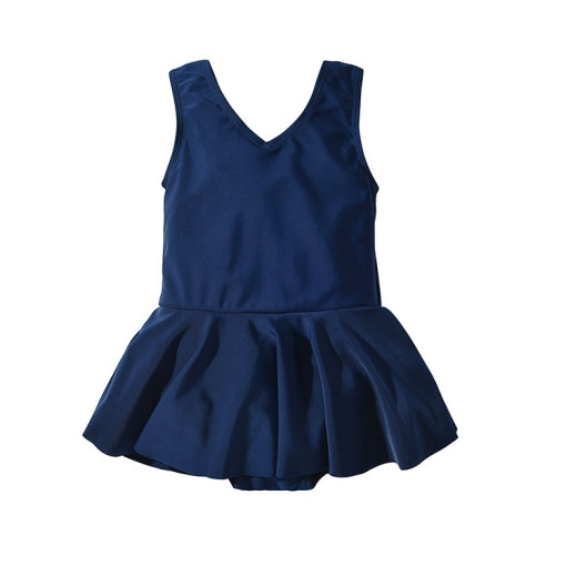 Kids One-Piece Swimsuit Bow Girls Swimwear For Children